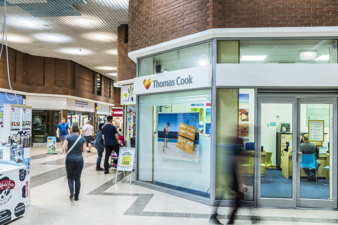 White Rose Centre Thomas Cook shop front