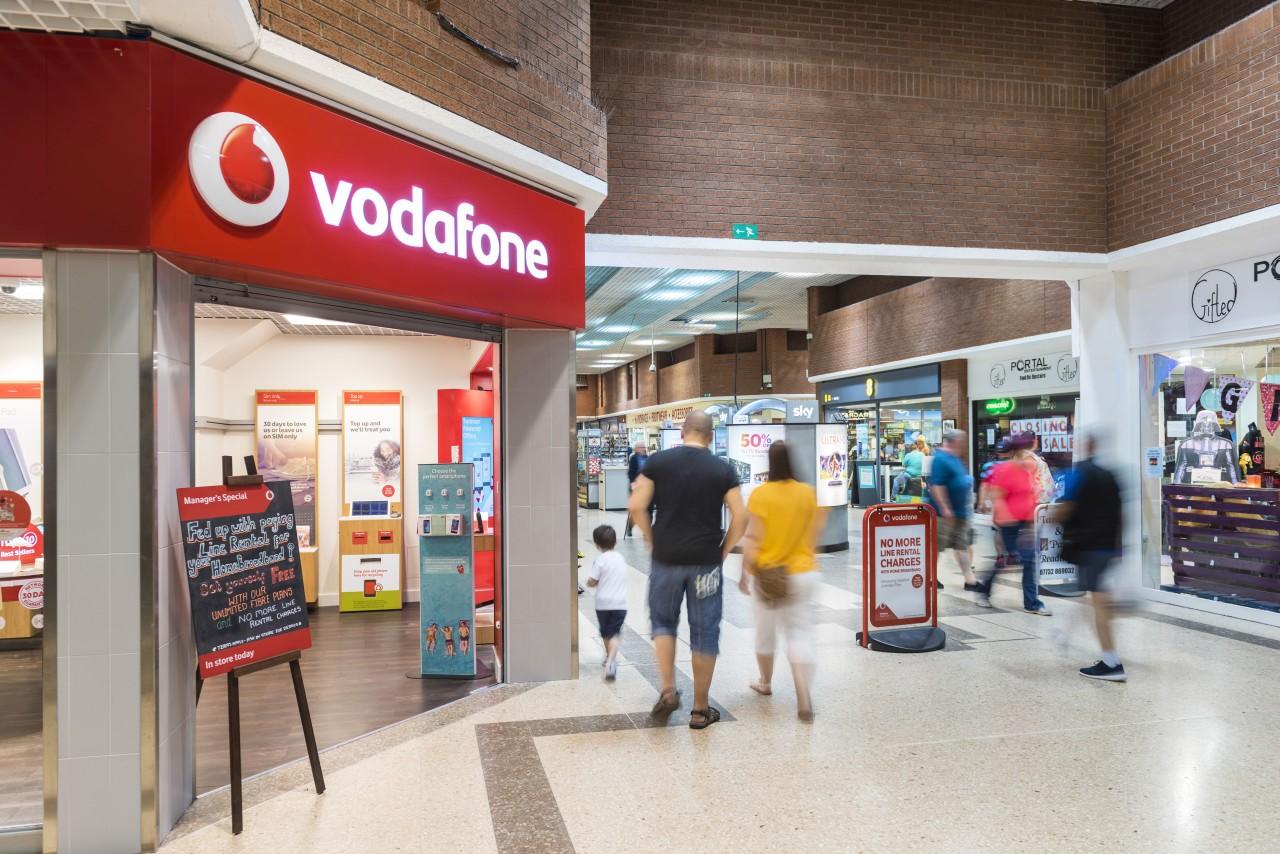 White Rose Centre Vodafone shop front