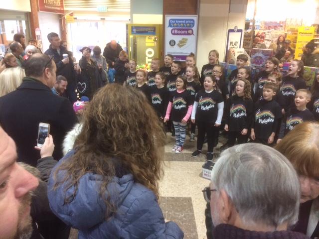 Children singing at White Rose Centre
