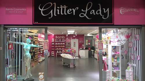 glitter lady shop front